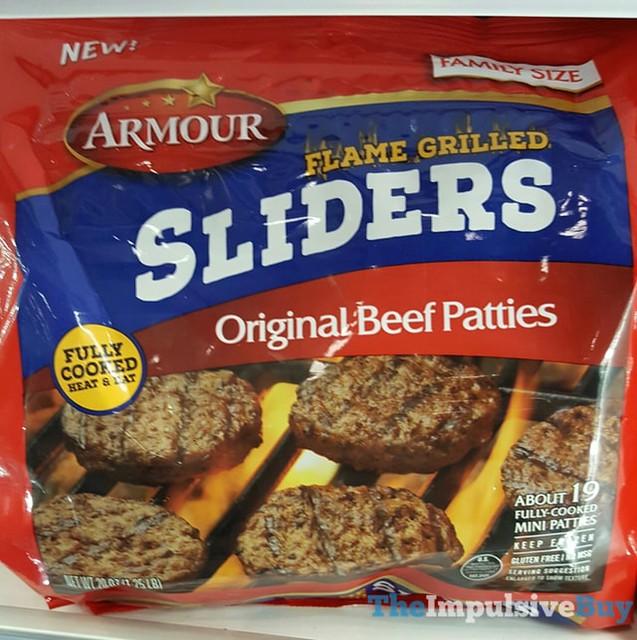 Armour Flame Grilled Sliders Original Beef Patties