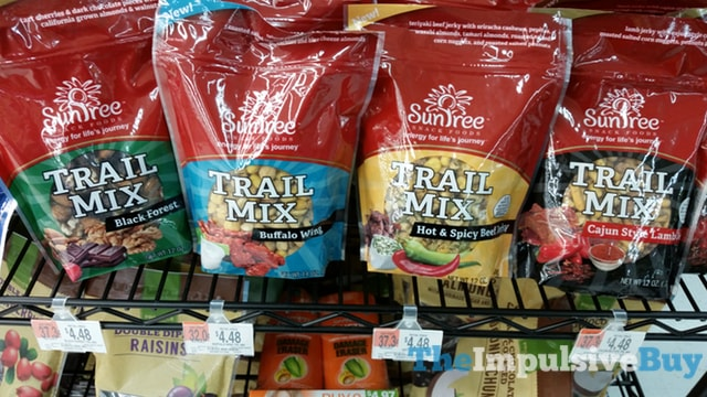 Sun Tree Trail Mix (Black Forest, Buffalo Wing, Hot & Spicy Beef Jerky, and Cajun Style Lamb Jerky)