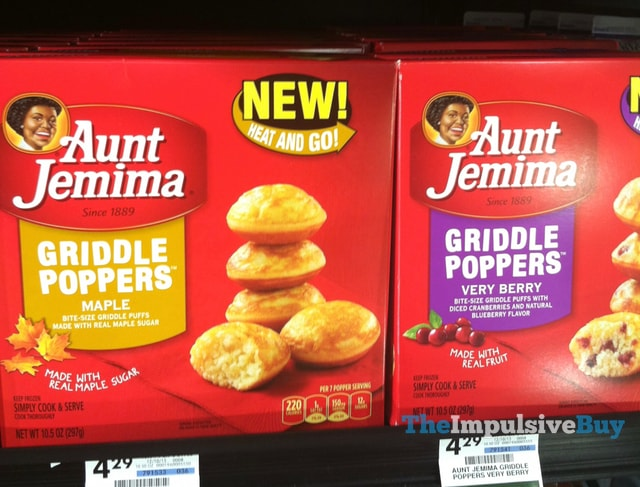 Aunt Jemima Maple and Very Berry Griddle Poppers