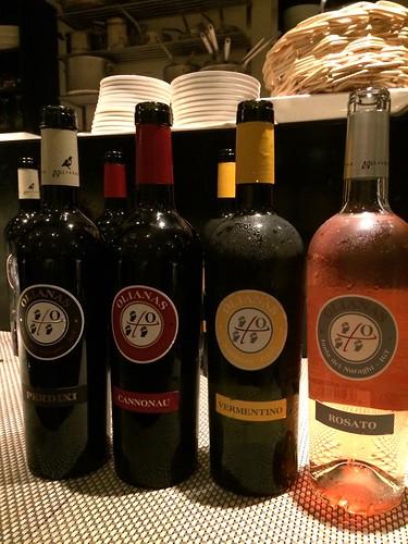 サルデーニャのワインたち@オステリア・トット