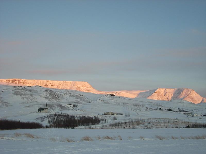 Amanecer en Islandia