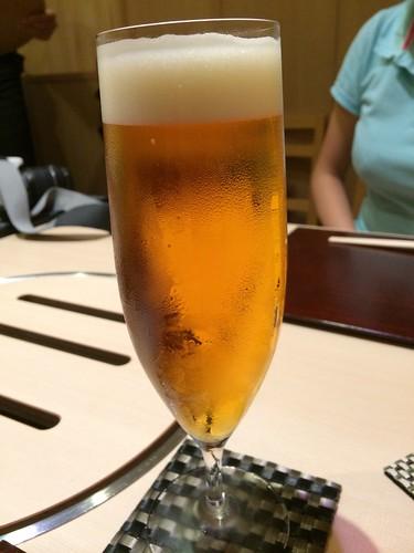 生ビール@西麻布 けんしろう