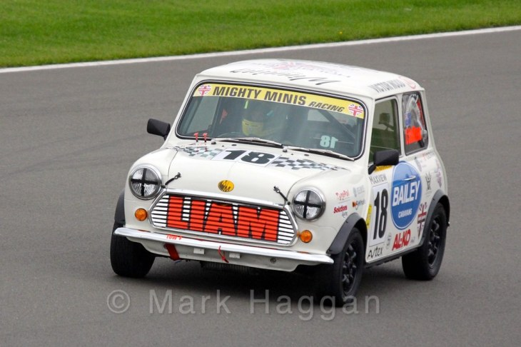 Liam Sullivan in Mighty Minis at Donington Park, October 2015