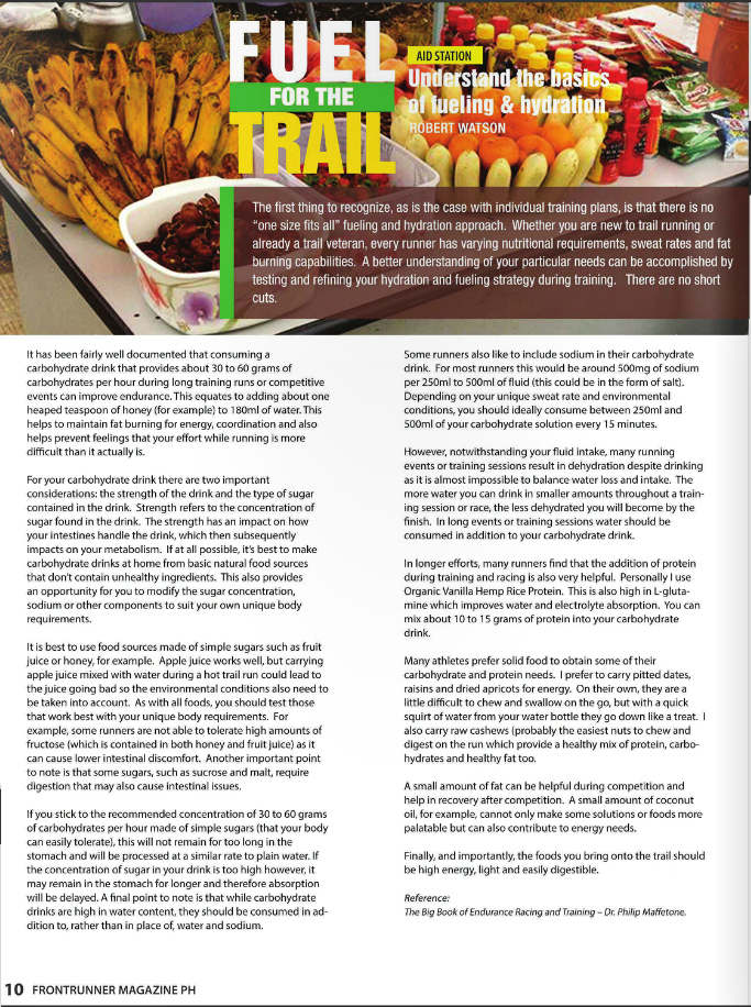 FrontRunner Magazine Ezine: Issue 1 - Fuel for the Trails - Robert Watson | robertjohnwatson.com