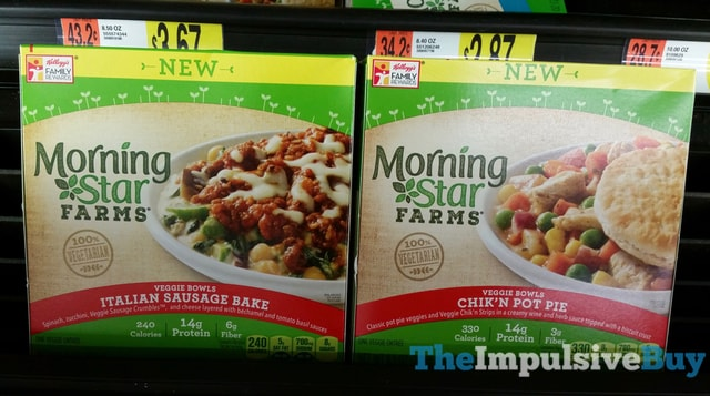 MorningStar Farms Italian Sausage Bake and Chik'n Pot Pie Veggie Bowls