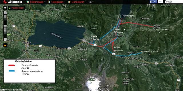 Tours Zona Pucón mapa