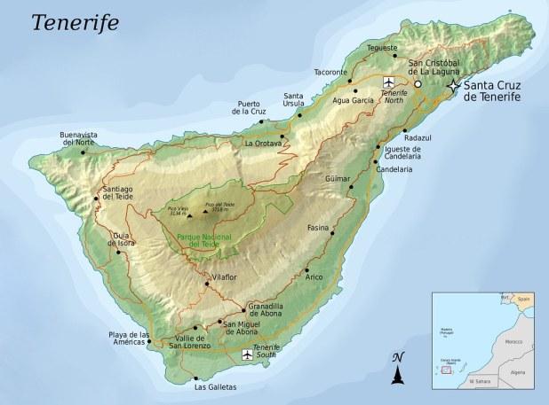 Mapa para visitar Tenerife