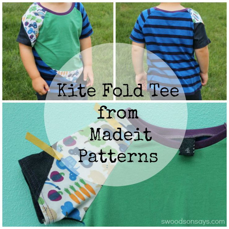 Kite Fold Tee from Madeit Patterns