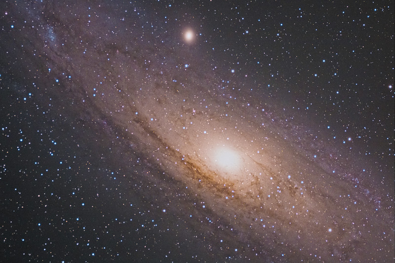 M31 Andromedae galaxy core with bigger lens and without Drizzle2x