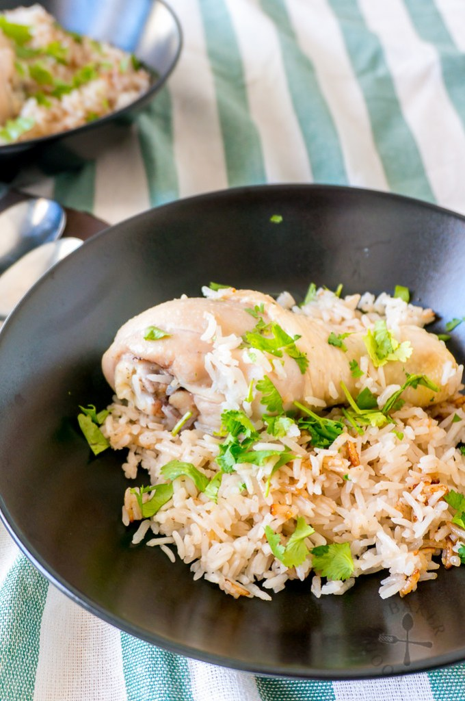 Rice Cooker Hainanese Chicken Rice