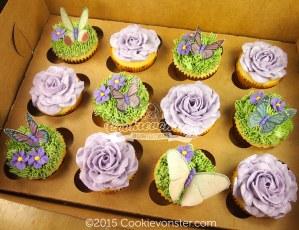 Garden themed cupcakes