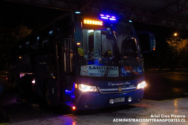 Expreso del Sur - Temuco - Busscar Vissta Buss LO / Scania (ZJ1611)