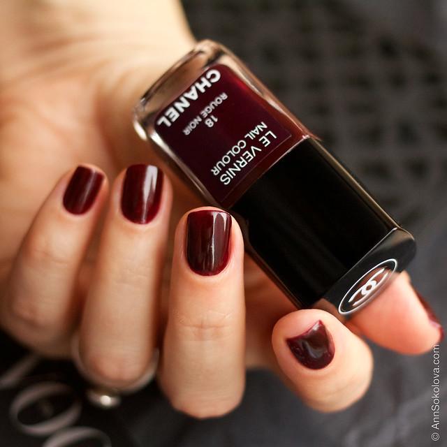 02 Chanel 18 Rouge Noir Ann Sokolova swatches