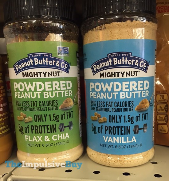 Peanut Butter Co. Mighty Nut Powdered Peanut Butter (Flax & Chia and Vanilla)