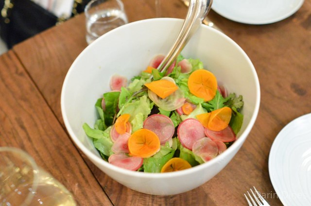 Seasonal Greens Salad fuyu persimmon, fromage