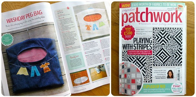 My Peg Bag pattern in Popular Patchwork/Sept15