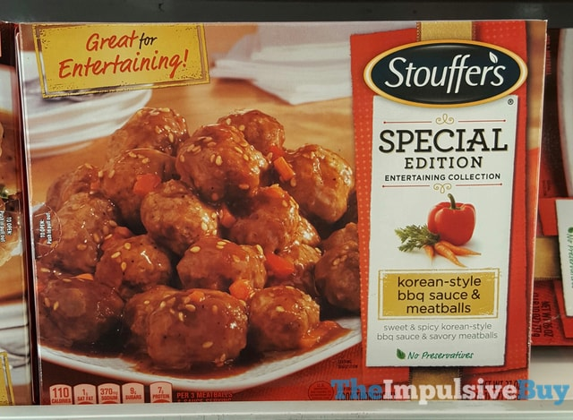 Stouffer's Special Edition Entertaining Collection Korean-Style BBQ Sauce & Meatballs