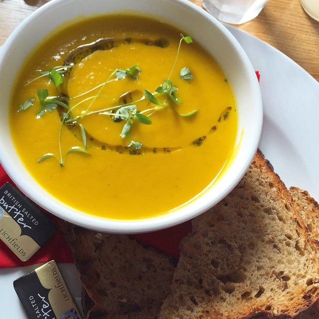 Roast pumpkin and honey soup