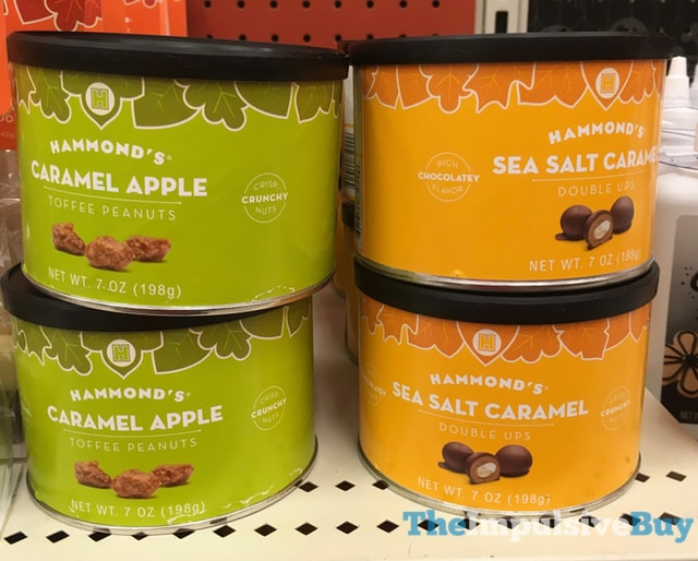 Hammond's Caramel Apple Toffee Peanuts Sea Salt Caramel Double Ups