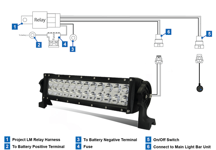 Led Light Bar Wiring Diagram Without Relay : 42 Wiring