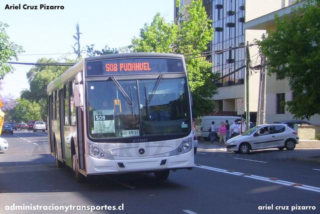 Transantiago - Buses Metropolitana / Metbus - Caio Mondego H / Mercedes Benz (BDXR37)