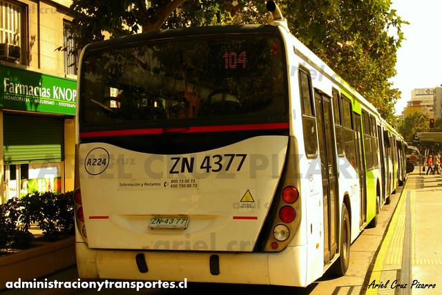 Transantiago - Inversiones Alsacia - Marcopolo Gran Viale / Volvo (ZN4377)