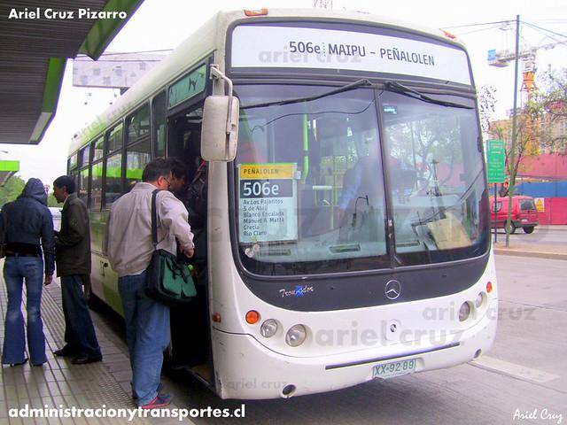 Transantiago - Buses Metropolitana / Metbus - Metalpar Tronador / Mercedes Benz (XX9289)
