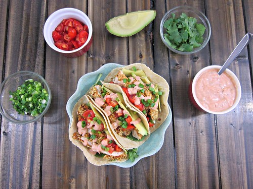 Southwest Tortilla Crusted Chicken Tacos