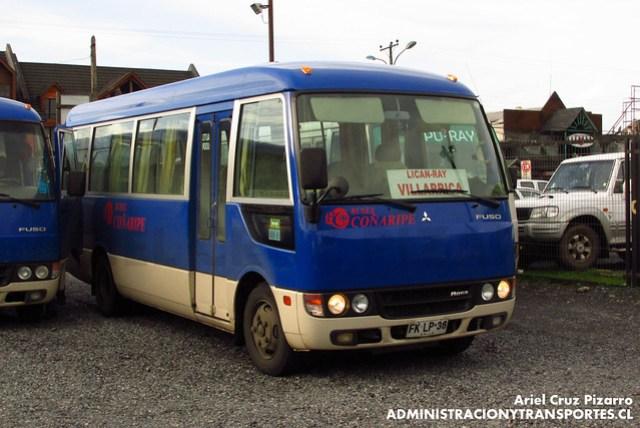 Buses Coñaripe - Villarrica - Mitsubishi Fuso Rosa (FKLP38)