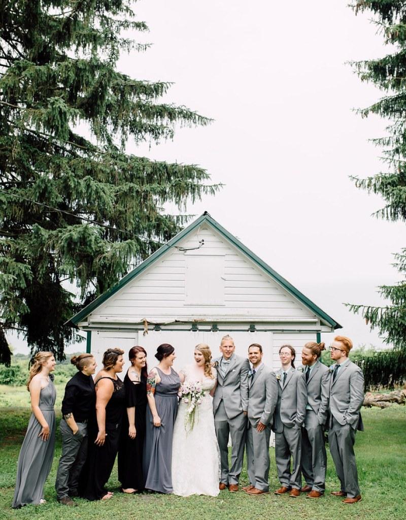 Skye & Evan\'s woodland Twin Peaks wedding | Offbeat Bride
