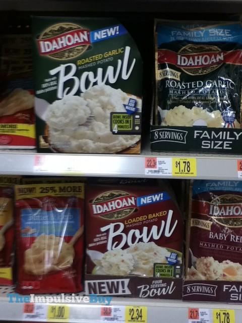 Idahoan Mashed Potato Bowl (Roasted Garlic and Loaded Baked)