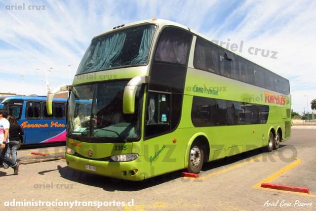Tur Bus (Cama Premium) | La Serena | Marcopolo Paradiso 1800 DD - Mercedes Benz (CTYZ31) (2305)