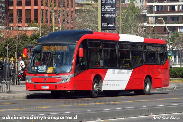 Transantiago - Redbus Urbano - Neobus Mega BRT / Volvo (CJRK58) (1351)