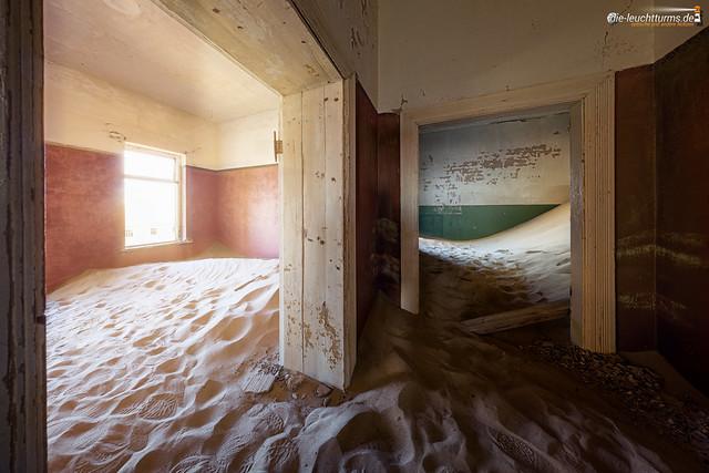 The desert had come back to Kolmanskop