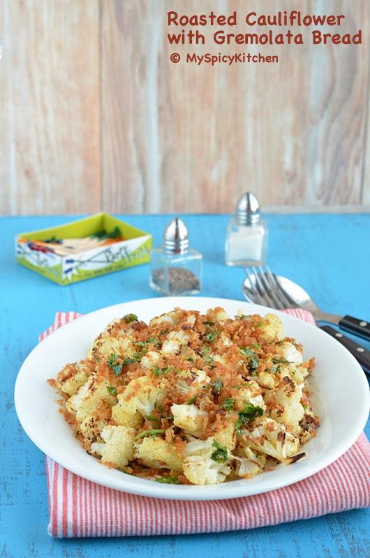 Roasted Cauliflower, Roasted Gobi, Roasted phool gobi, Oven Roasted Gobi, Oven Roasted Cauliflower