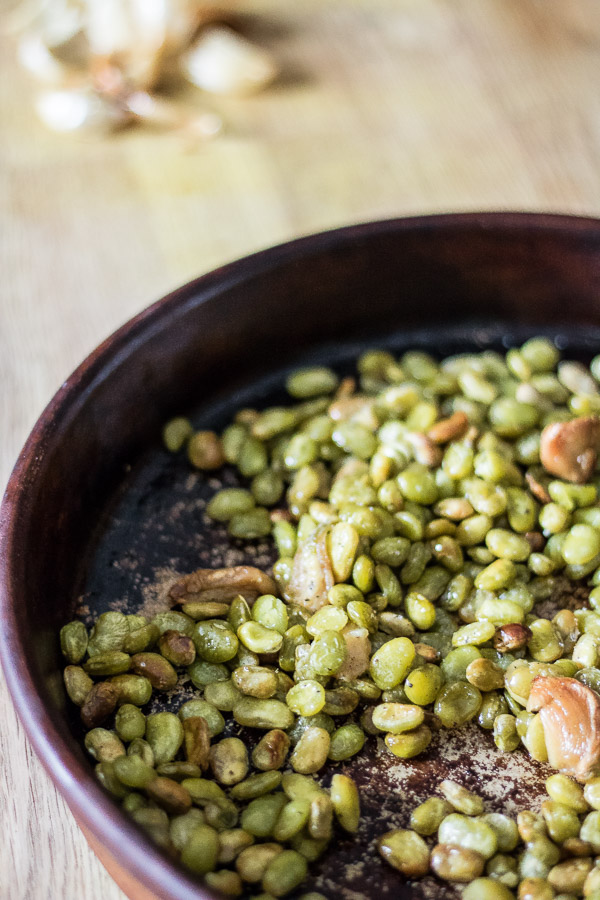 Oven Roasted Lima Beans and Garlic