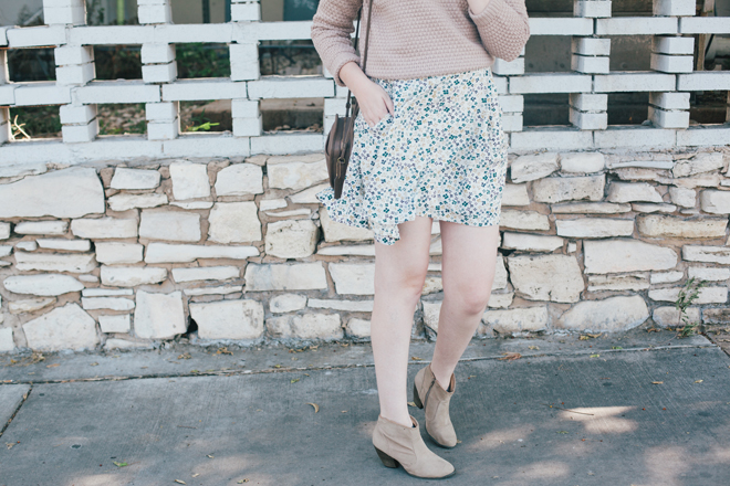 oatmeal sweater floral skirt3