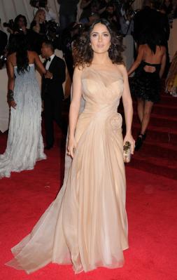 Salma Hayek Wedding Dress