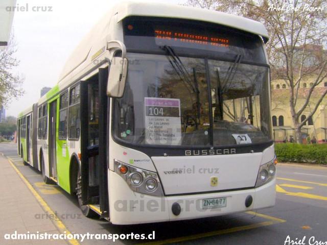 Transantiago - Inversiones Alsacia - Busscar Urbanuss / Volvo (ZN6477)
