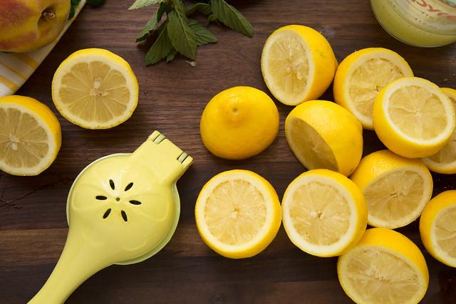 Juiced lemon halves