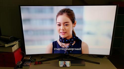 เพราะความเป็น Samsung เลยสามารถใช้ Quick Connect ทำการ Streaming ภาพขึ้นหน้าจอได้เลย