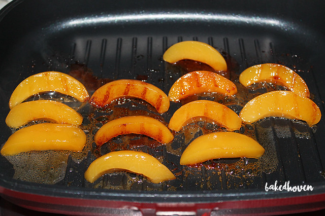 Nutella Souffle Grilled Peaches