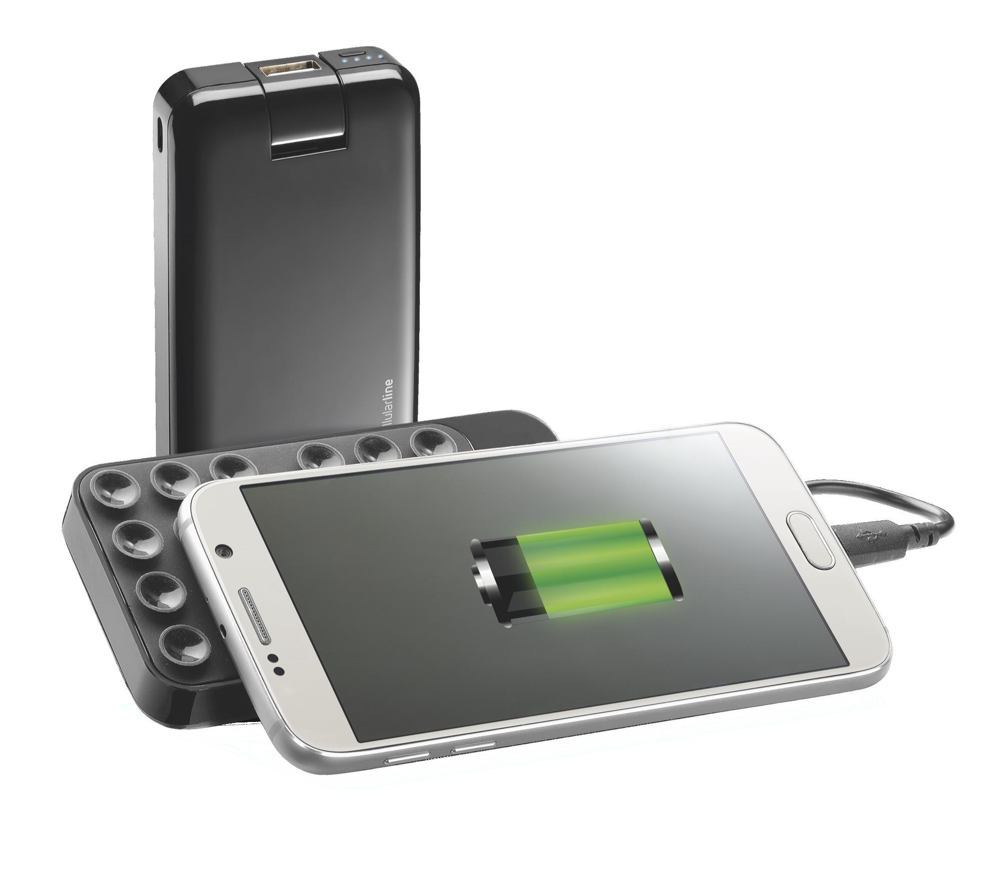 De Freepower Octopus heeft zuignappen om je smartphone aan je powerbank te hangen.