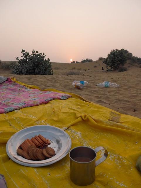 Desert Breakfast and Sunrise