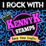 KennyK-Stamps-BADGE-IRockWITH-BLUE