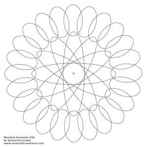 Mandala template 52