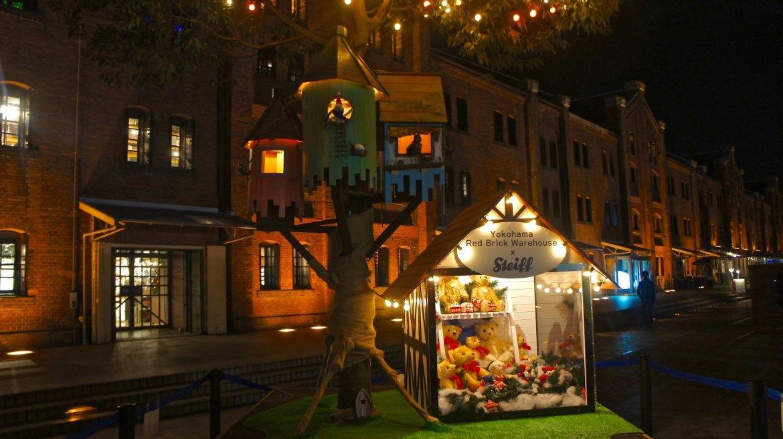 Christmas at Aka Renga Souka Red Brick House at Yokohama