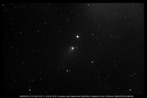 Cometa 2013 X1 22 12 2015