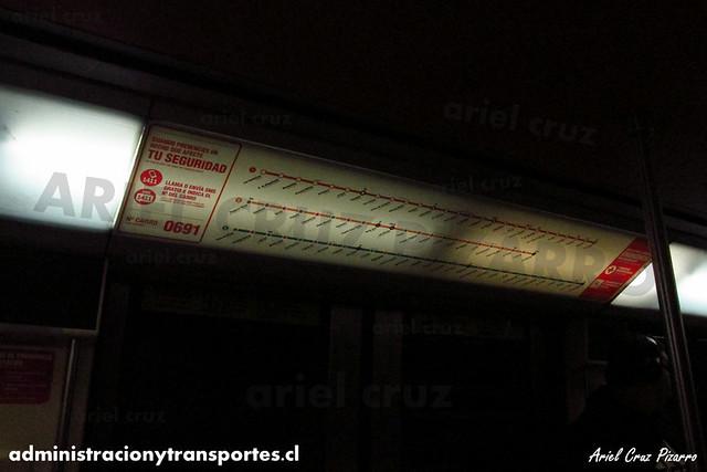 Metro de Santiago - Alstom NS93 N2069 - Vicente Valdés (L5)
