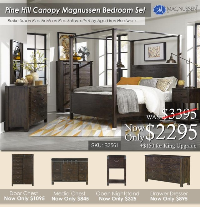 Pine Hill Canopy Bed Set